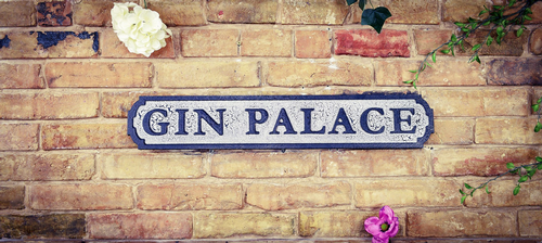 Gin Palace Vintage Road Sign / Street Sign